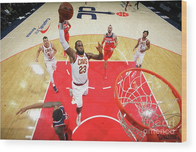 Nba Pro Basketball Wood Print featuring the photograph Lebron James by Ned Dishman