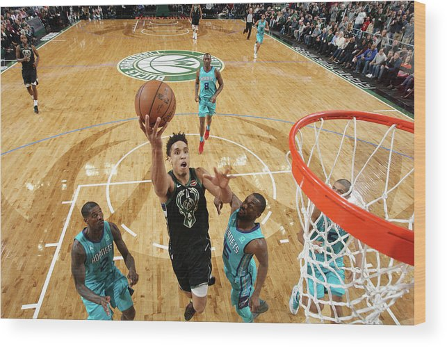 Nba Pro Basketball Wood Print featuring the photograph Malcolm Brogdon by Gary Dineen