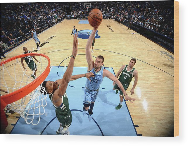 Nba Pro Basketball Wood Print featuring the photograph Marc Gasol by Jesse D. Garrabrant