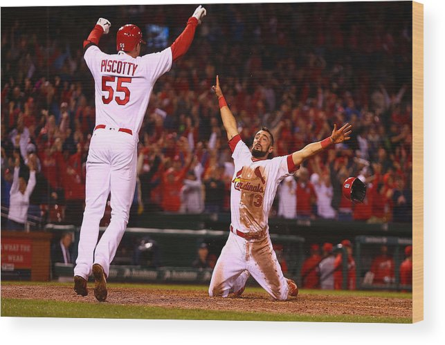 St. Louis Cardinals Wood Print featuring the photograph Matt Carpenter by Dilip Vishwanat