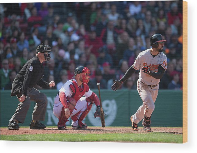 East Wood Print featuring the photograph Nick Markakis by Rob Tringali