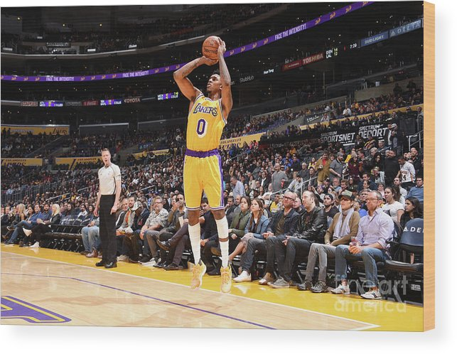 Nba Pro Basketball Wood Print featuring the photograph Nick Young by Andrew D. Bernstein