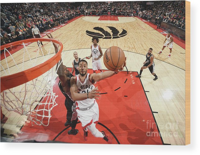 Nba Pro Basketball Wood Print featuring the photograph Norman Powell by Ron Turenne