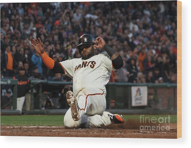 San Francisco Wood Print featuring the photograph Pablo Sandoval by Jason O. Watson