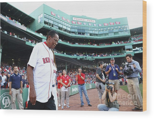 Three Quarter Length Wood Print featuring the photograph Rod Carew by Maddie Meyer