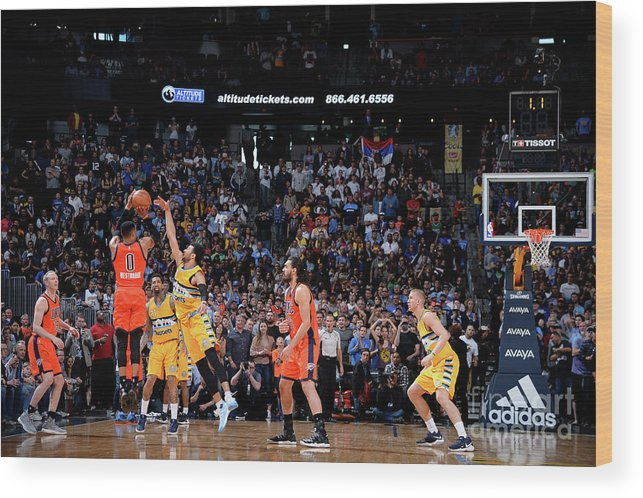 Nba Pro Basketball Wood Print featuring the photograph Russell Westbrook by Bart Young