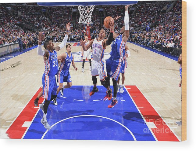 Nba Pro Basketball Wood Print featuring the photograph Russell Westbrook by Jesse D. Garrabrant