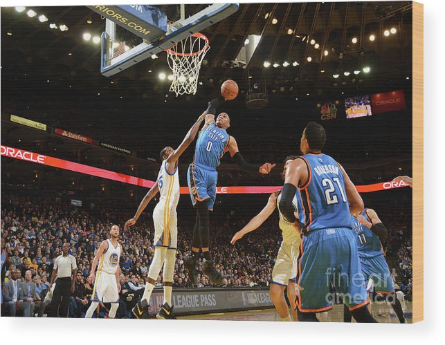 Nba Pro Basketball Wood Print featuring the photograph Russell Westbrook by Noah Graham
