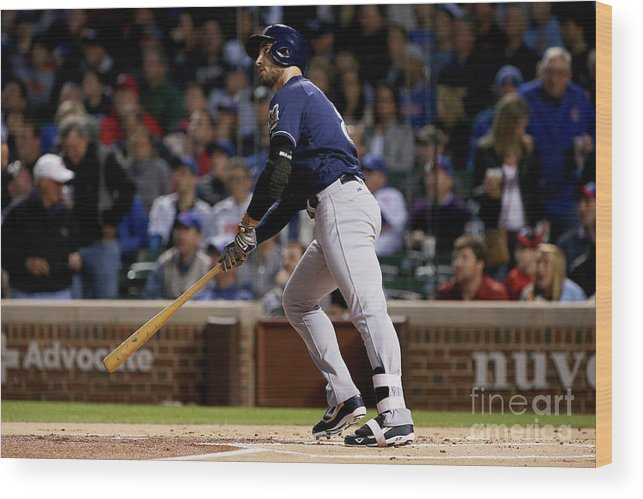 People Wood Print featuring the photograph Ryan Braun by Dylan Buell