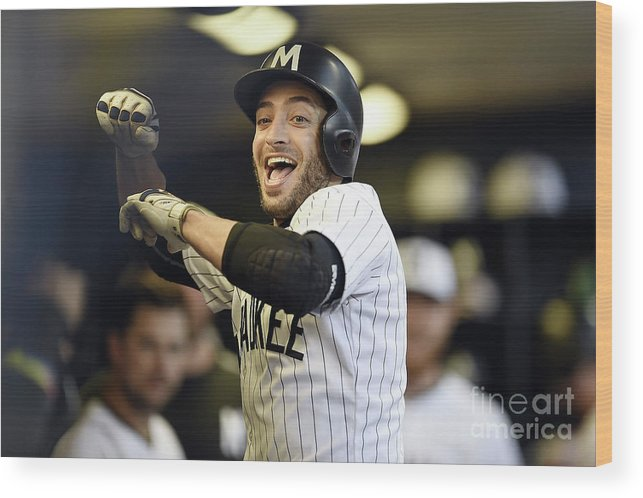 People Wood Print featuring the photograph Ryan Braun by Stacy Revere