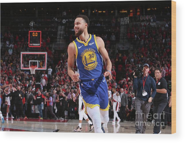 Nba Pro Basketball Wood Print featuring the photograph Stephen Curry by Sam Forencich