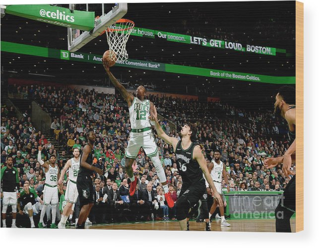 Nba Pro Basketball Wood Print featuring the photograph Terry Rozier by Brian Babineau