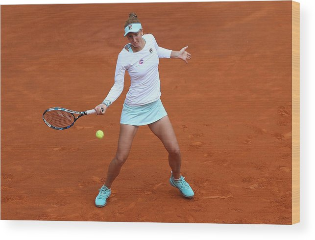 Tennis Wood Print featuring the photograph The Internazionali BNL d'Italia 2016 - Day Seven by Matthew Lewis