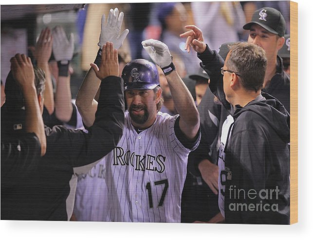 Ninth Inning Wood Print featuring the photograph Todd Helton by Doug Pensinger