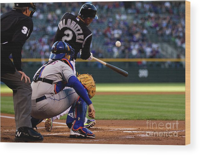 People Wood Print featuring the photograph Troy Tulowitzki by Justin Edmonds