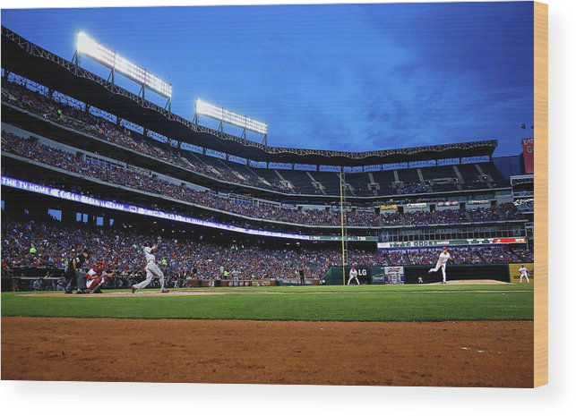 American League Baseball Wood Print featuring the photograph Yu Darvish by Tom Pennington