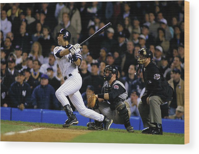Sport Wood Print featuring the photograph Derek Jeter by Al Bello