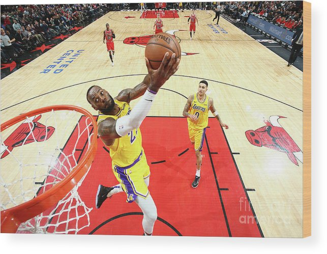Nba Pro Basketball Wood Print featuring the photograph Lebron James by Nathaniel S. Butler
