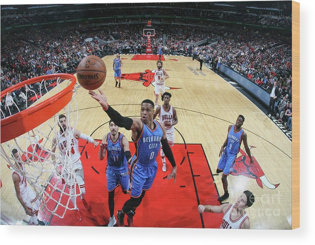 Nba Pro Basketball Wood Print featuring the photograph Russell Westbrook by Layne Murdoch