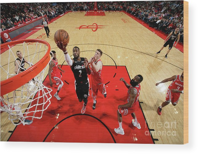 Nba Pro Basketball Wood Print featuring the photograph John Wall by Ned Dishman