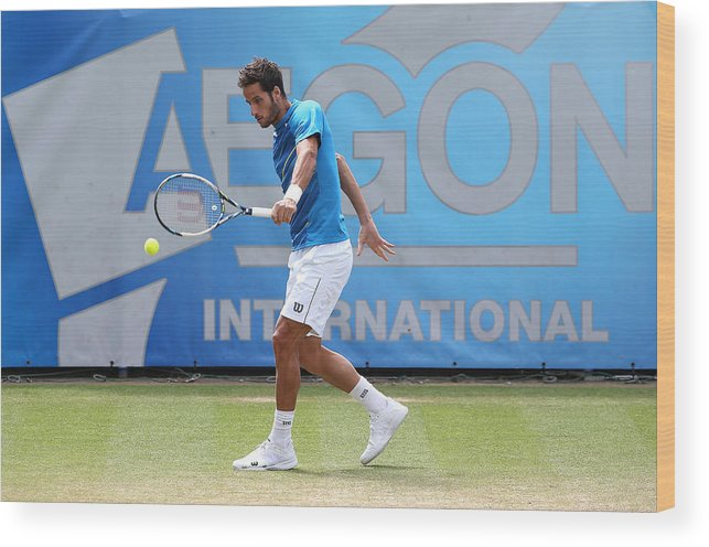 Tennis Wood Print featuring the photograph Aegon International - Day Seven by Jan Kruger