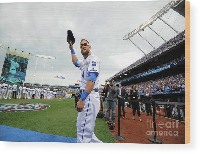 Crowd Wood Print featuring the photograph Alex Gordon by Ed Zurga