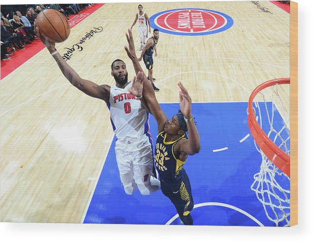 Nba Pro Basketball Wood Print featuring the photograph Andre Drummond by Chris Schwegler