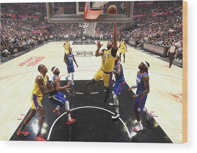 Nba Pro Basketball Wood Print featuring the photograph Anthony Davis by Andrew D. Bernstein