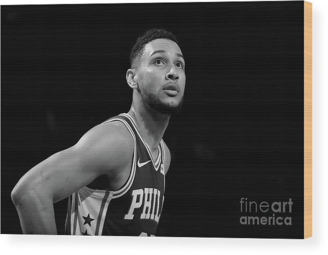 Nba Wood Print featuring the photograph Ben Simmons by Nathaniel S. Butler