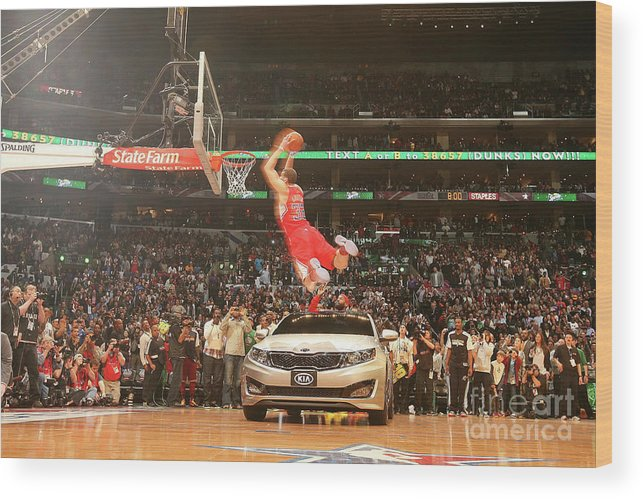 Kia Wood Print featuring the photograph Blake Griffin by Nathaniel S. Butler