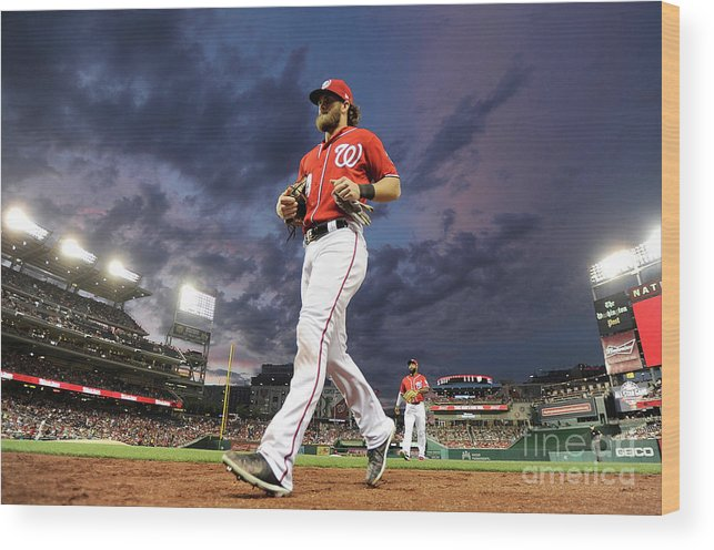 People Wood Print featuring the photograph Bryce Harper by Greg Fiume