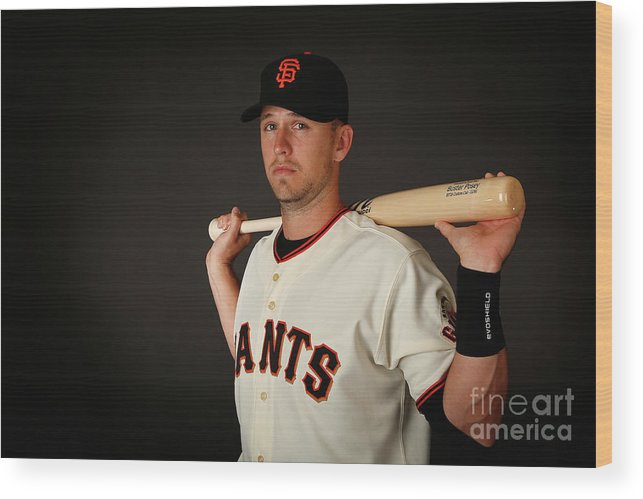 Media Day Wood Print featuring the photograph Buster Posey by Christian Petersen