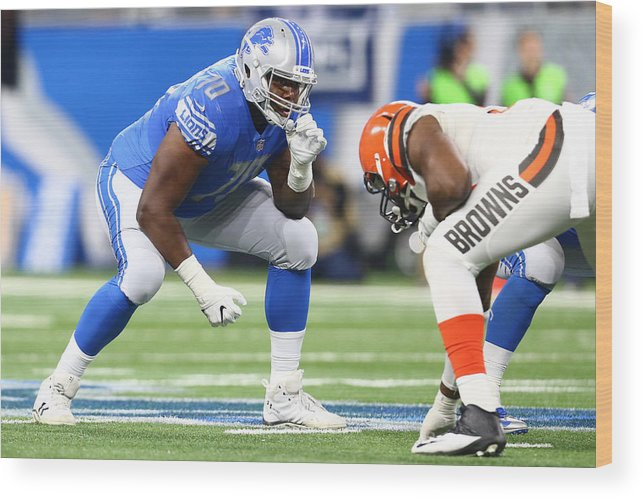 People Wood Print featuring the photograph Cleveland Browns v Detroit Lions by Rey Del Rio