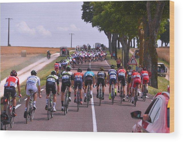 Peloton Wood Print featuring the photograph Cycling: 104th Tour de France 2017 / Stage 7 by Tim de Waele