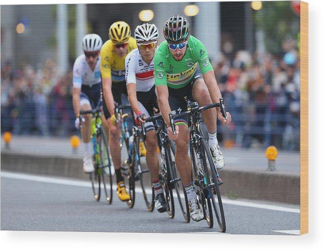 Saitama City Wood Print featuring the photograph Cycling: 4th Tour de France Saitama Criterium 2016 by Kei Tsuji