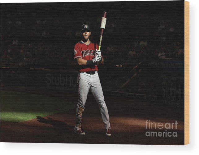 Ninth Inning Wood Print featuring the photograph David Peralta by Christian Petersen