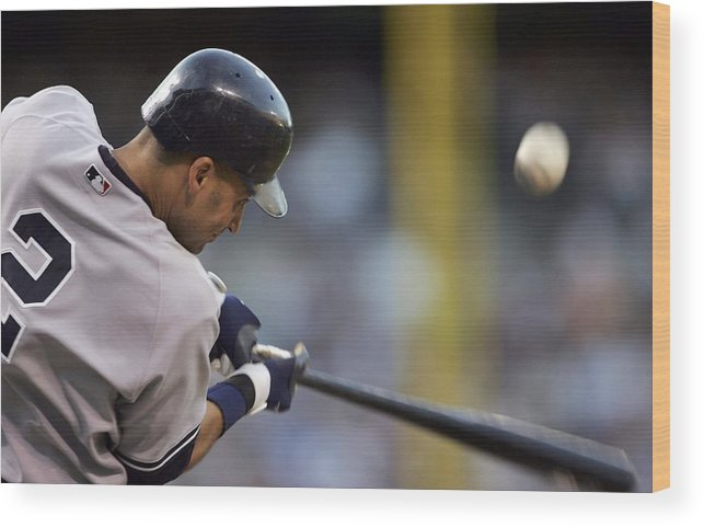People Wood Print featuring the photograph Derek Jeter by Jamie Squire