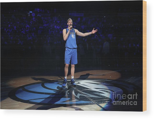 Nba Pro Basketball Wood Print featuring the photograph Dirk Nowitzki by Nathaniel S. Butler