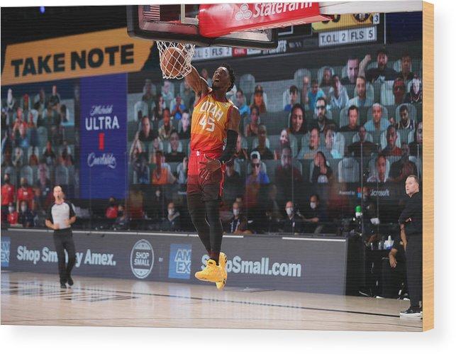 Nba Pro Basketball Wood Print featuring the photograph Donovan Mitchell by Joe Murphy