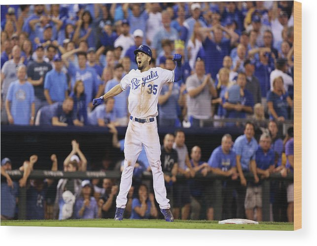 Playoffs Wood Print featuring the photograph Eric Hosmer by Ed Zurga