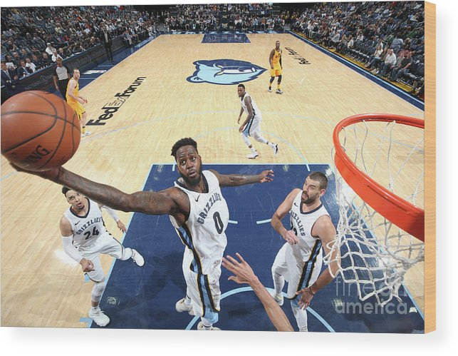Nba Pro Basketball Wood Print featuring the photograph Jamychal Green by Joe Murphy