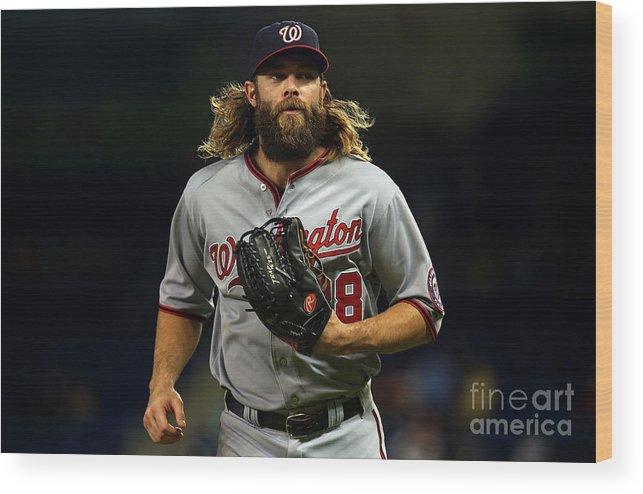 American League Baseball Wood Print featuring the photograph Jayson Werth by Mike Ehrmann