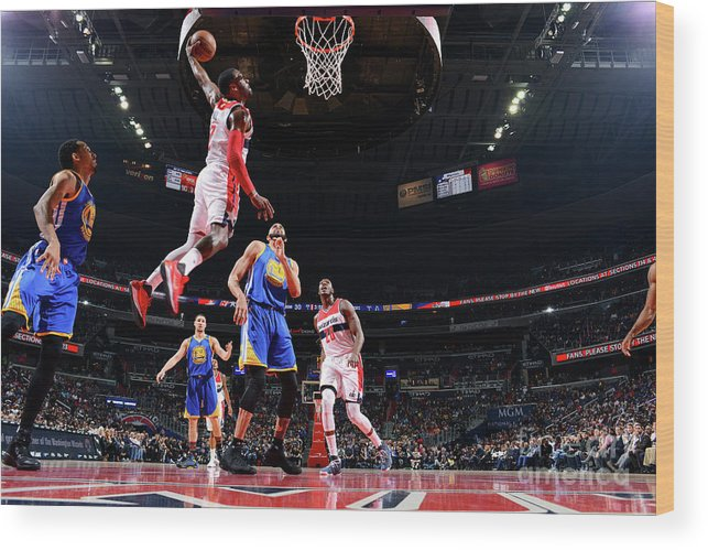 Nba Pro Basketball Wood Print featuring the photograph John Wall by Jesse D. Garrabrant