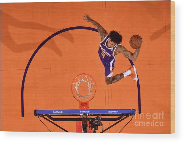 Nba Pro Basketball Wood Print featuring the photograph Kelly Oubre by Barry Gossage