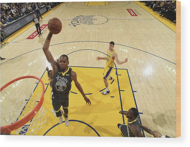 Nba Pro Basketball Wood Print featuring the photograph Kevin Durant by Garrett Ellwood