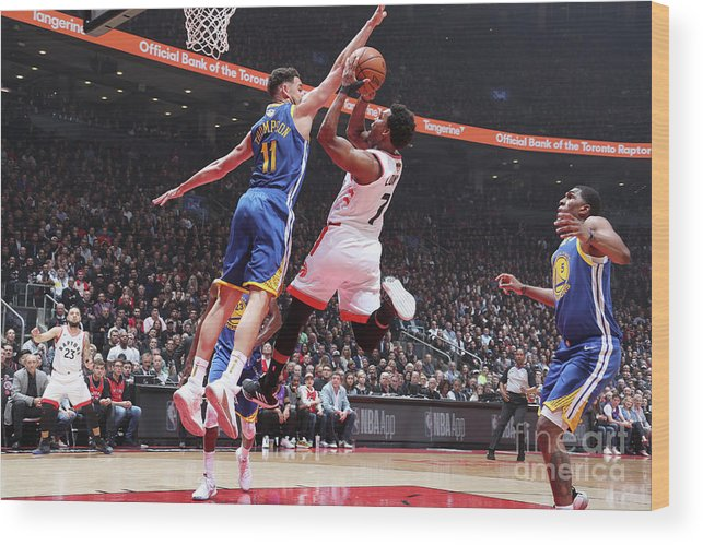 Playoffs Wood Print featuring the photograph Kyle Lowry by Nathaniel S. Butler