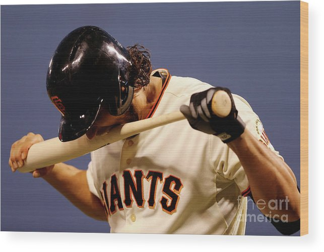San Francisco Wood Print featuring the photograph Madison Bumgarner by Elsa