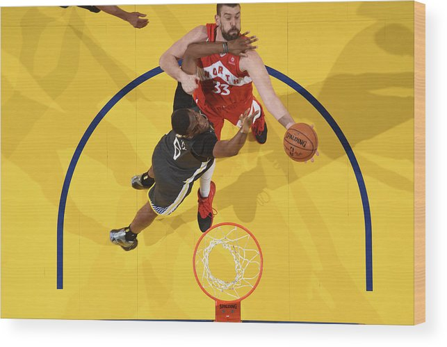 Playoffs Wood Print featuring the photograph Marc Gasol by Andrew D. Bernstein