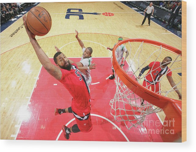 Nba Pro Basketball Wood Print featuring the photograph Markieff Morris by Ned Dishman