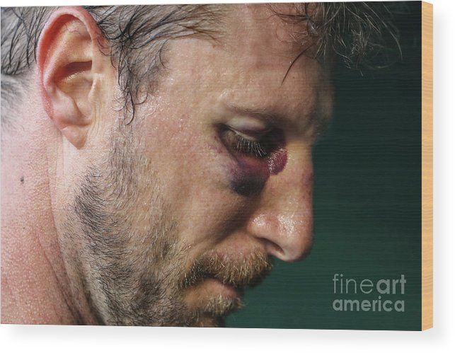 People Wood Print featuring the photograph Max Scherzer by Patrick Smith